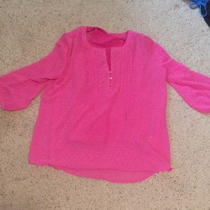 Fun Pink Blouse SZ Large with Pink Tank